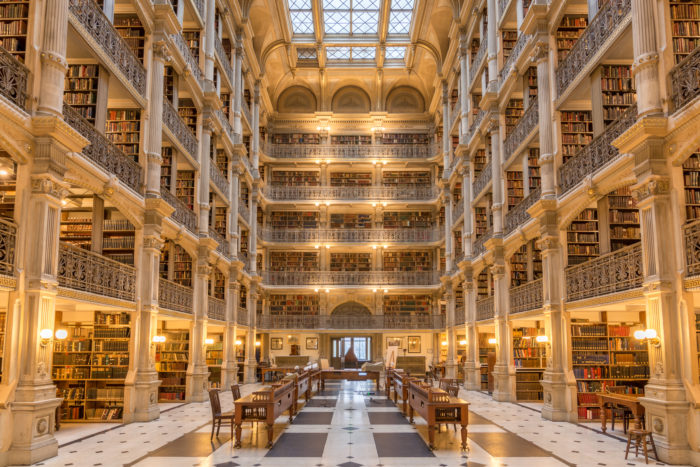 10. Read a book at the breathtaking George Peabody Library.