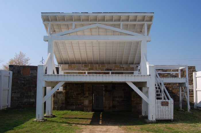 The gallows that stand today are a reconstruction of the original gallows, but they're a great way to experience the history of the rough-and-tumble border town of Fort Smith.