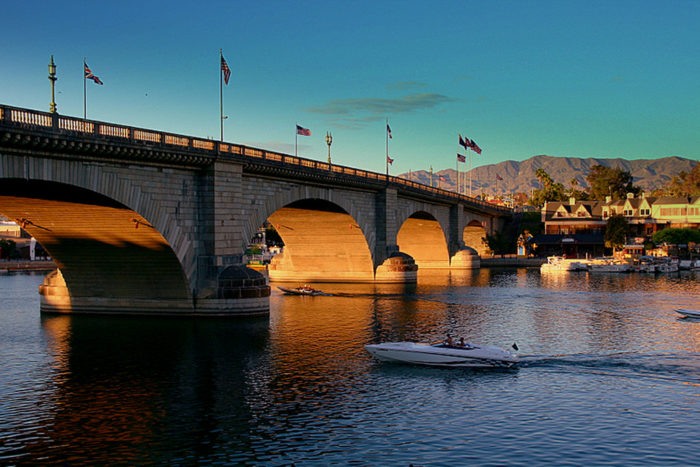 1. The London Bridge is also often called the world's most expensive souvenir. It cost Lake Havasu City's founder Robert McCulloch a whopping $2,460,000 when bidding on the bridge. This included spending $1.2 million to have the bridge painstakingly dismantled and $60,000 to have it reconstructed in Arizona.