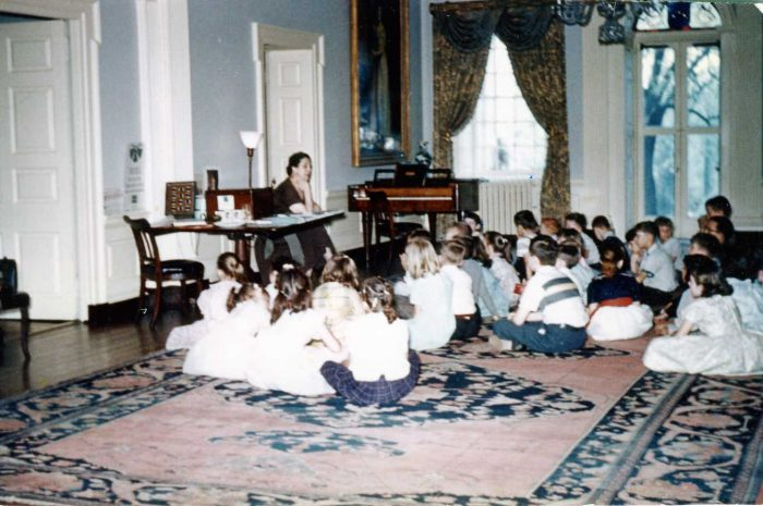 9. Students on a field trip to the Hampton Mansion in Towson in 1961.