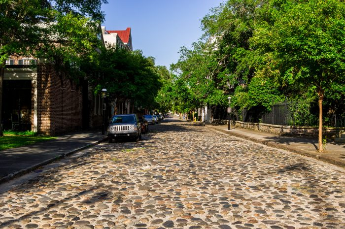 ...and the cobblestone streets.