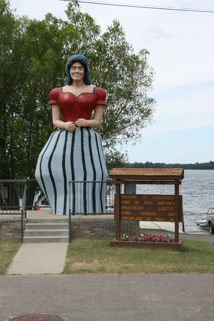 7. While you might expect to find a few roadside Paul Bunyans, nothing is more shocking than driving by his equally large girlfriend, Lucette in Hackensack.