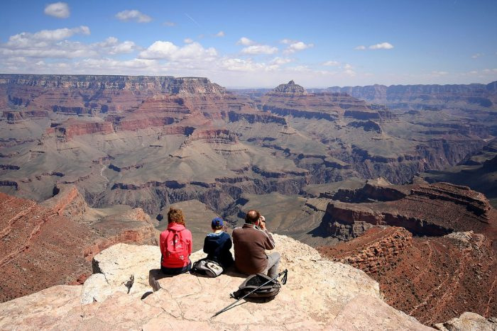 3. It's a family-friendly place! While you may not want to sit near the ledge with your kids, they can still participate in short hikes, mule rides, and camping.