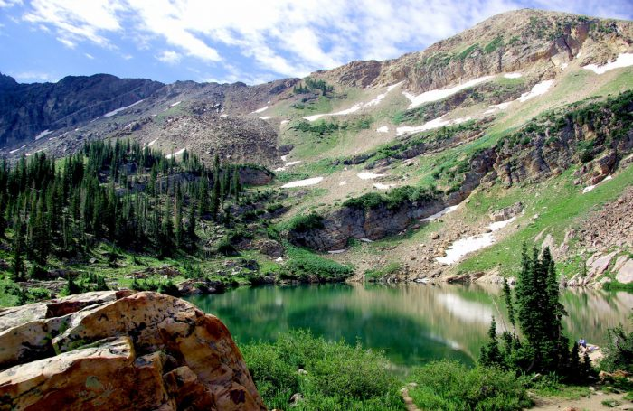 The payoff at the end of this hike is the beautiful Cecret Lake.
