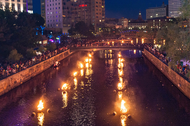 1. Attend WaterFire in Providence in the summer.