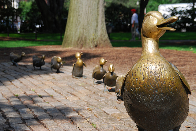 """6. The """"Make Way For Ducklings"""" Sculpture"""