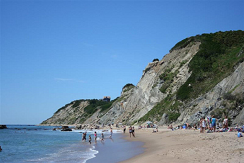 6. At the base of the bluffs is a wonderful secluded beach that is perfect to enjoy a picnic on.