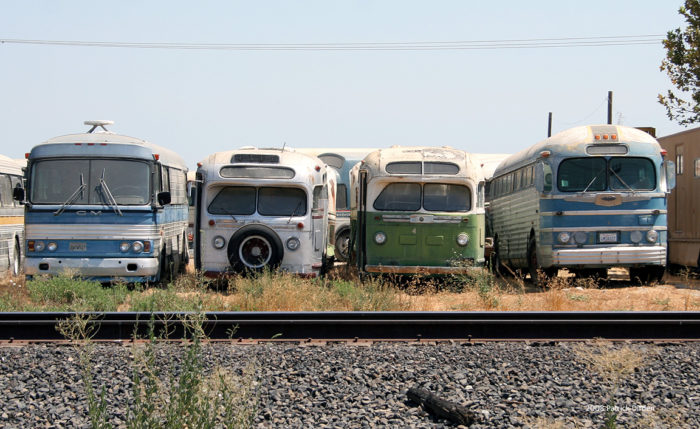 7. Abandoned GM Buses, California