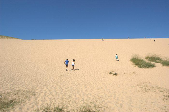 1. Climbing Sleeping Bear Dunes