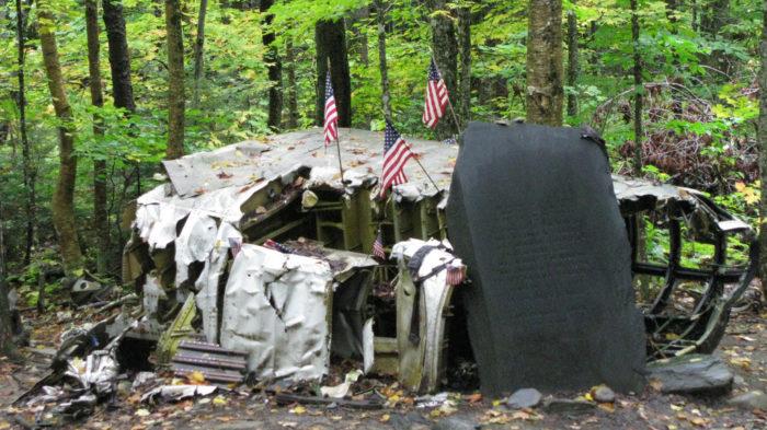 9. The Downed B-52 on Elephant Mountain, near Moosehead Lake.