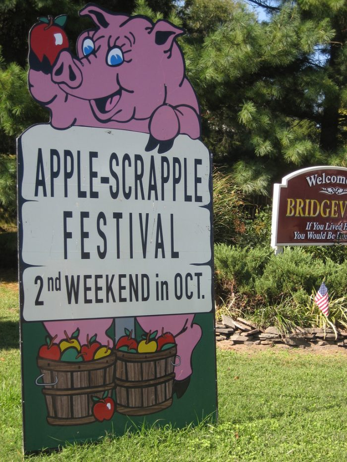 2. Apple Scrapple Festival, October 14-15, Bridgeville