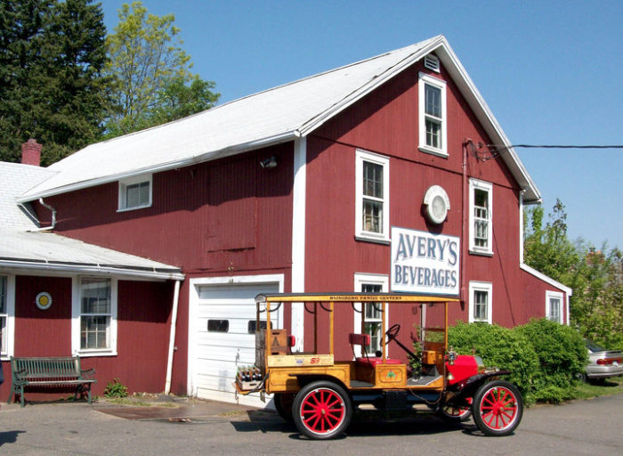 Avery's Beverages in New Britain has been making soda inside this barn for over a hundred years!