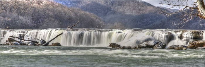 Sandstone Falls is the largest waterfall on the New River.