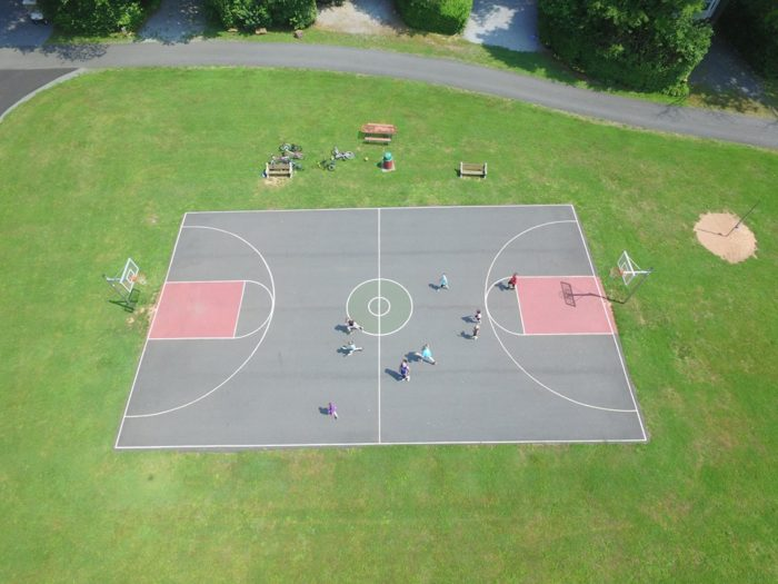 ...play a laidback game of basketball or horseshoe or rent a bike or a golf cart to explore the campground.