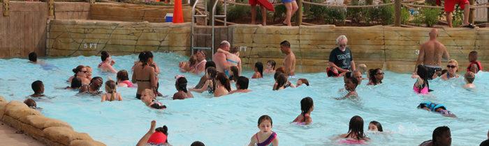 3. A big family wave lagoon