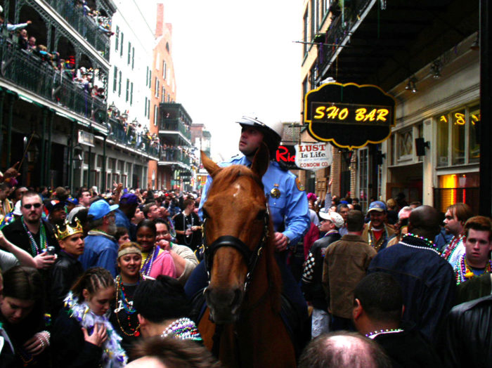 1) Watch out for horses when you are watching parades at Superior Grill.