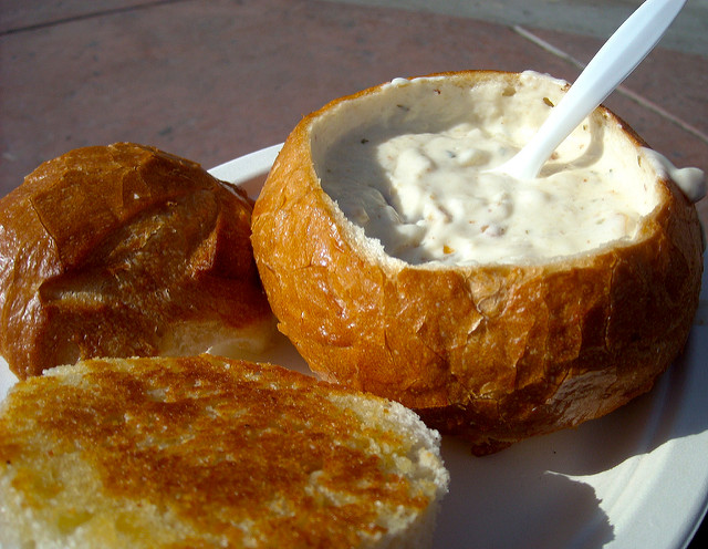 17. It's assumed Rhode Island chowder looks like this...