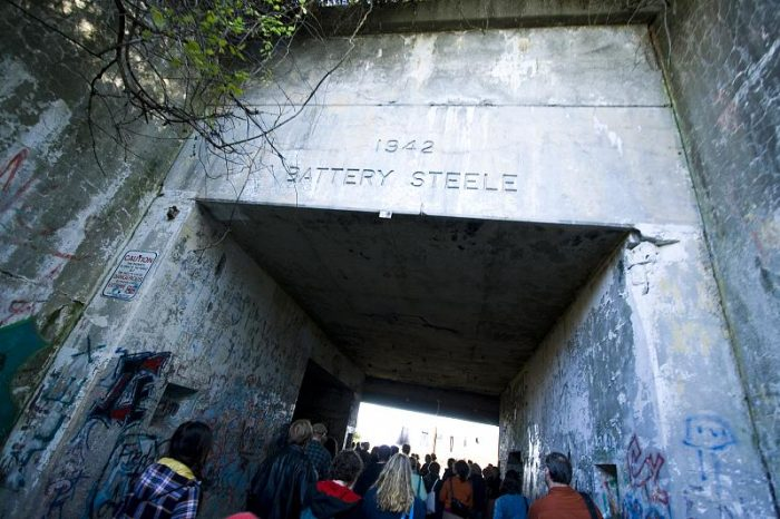 8. Explore the underground tunnels of Battery Steele.