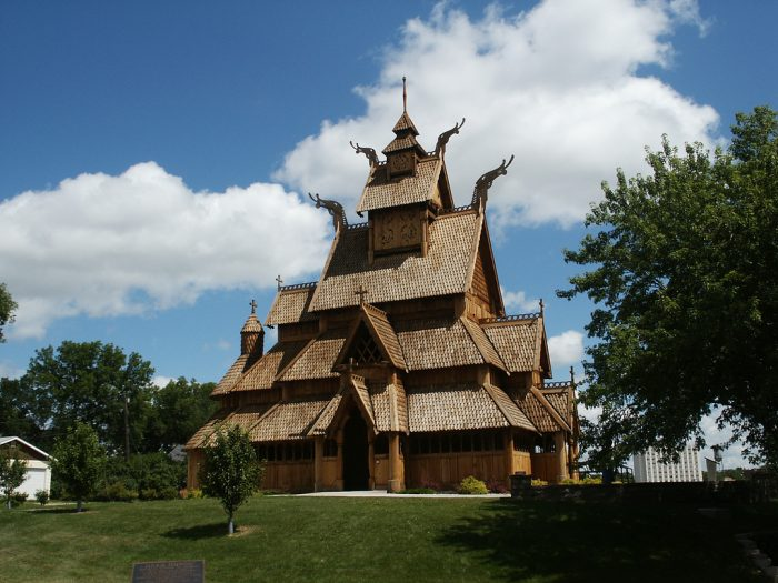 4. Stave Church in the Scandinavian Heritage Park, Minot
