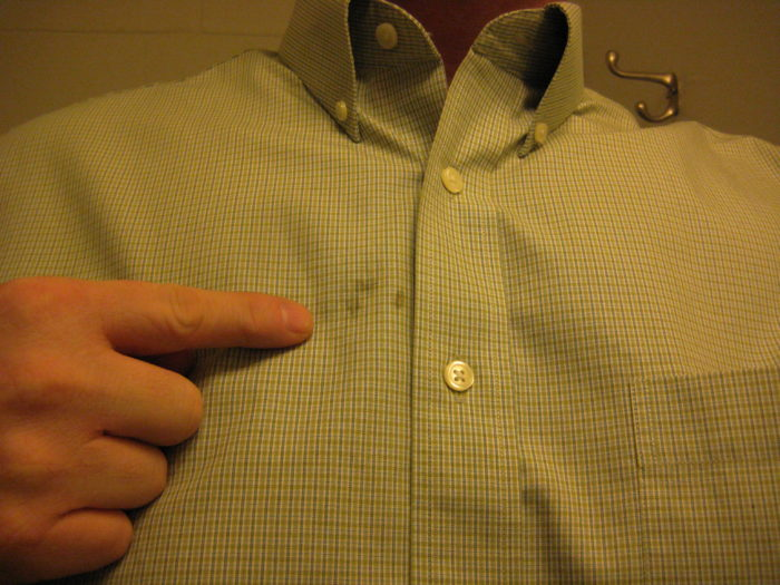 2. Your shirt WILL get messy.