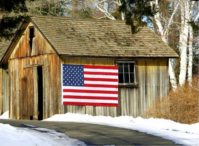12. This little barn in Fairfield has big pride.