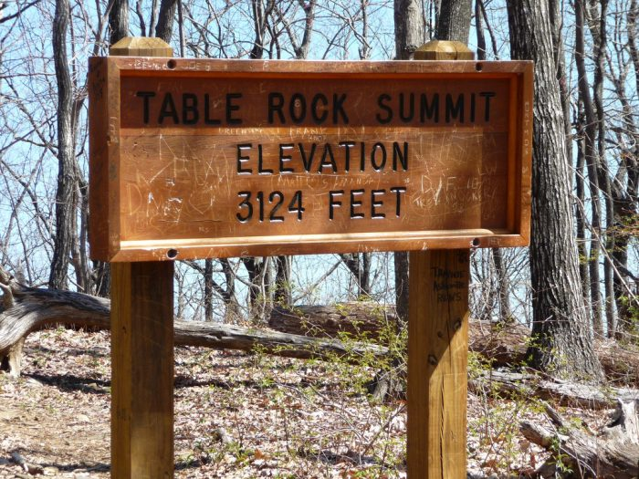 It boasts many trails, including the popular but difficult Table Rock Trail leading to the summit of the monolith for which the park is named.