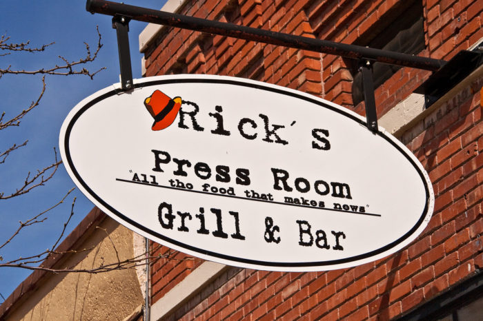 4. Rick's Press Room, Meridian