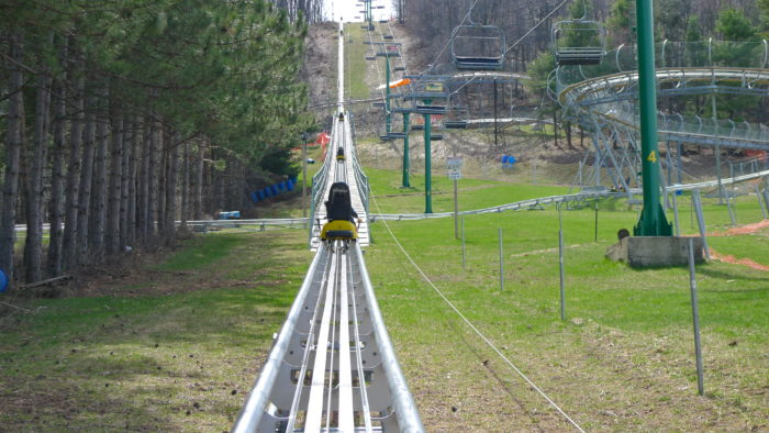 3. Ride the uniquely fun Mountain Coaster.