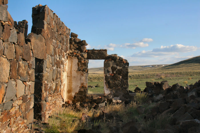 Along the way, you'll see the ghostly remnants of former mining towns...