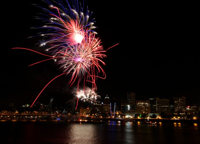 4. Watch fireworks on the river.