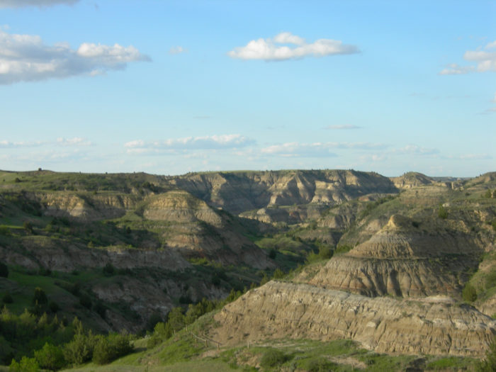 The towering buttes and deep canyons of the Badlands