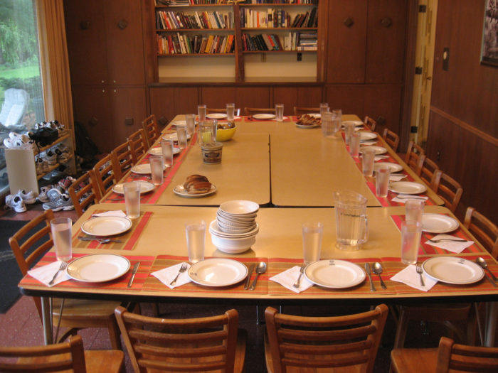 8. You automatically set the table like this.