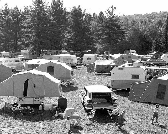 1. In the 1960s, people still loved camping, as you can see in this picture from the Gunstock Campground in Laconia.