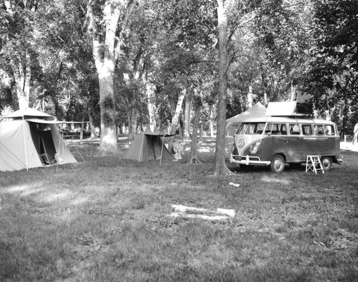 1. Camping outside of Rosebud, SD, 1965