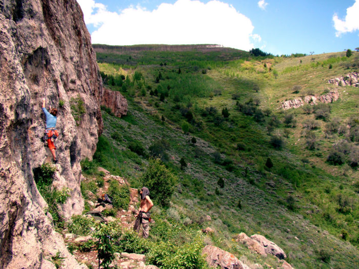 But always take time to explore other possibilities! Darby Canyon is a hotspot of opportunities. Like rock climbing.