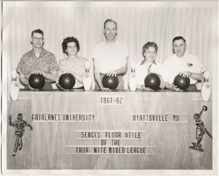 10. A bowling competition in Hyattsville in the 1960s.