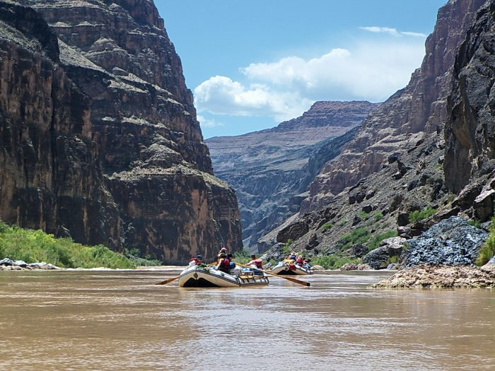 9. If heart-racing adventure is what you're seeking, you can also try out whiteriver rafting after treking down to the canyon's floor. Talk about a once in a lifetime experience!