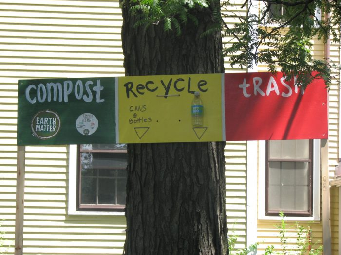 3.  We recycle and compost.