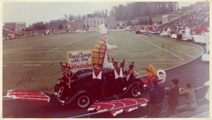 5. A homecoming parade at the University of Maryland, 1960s.