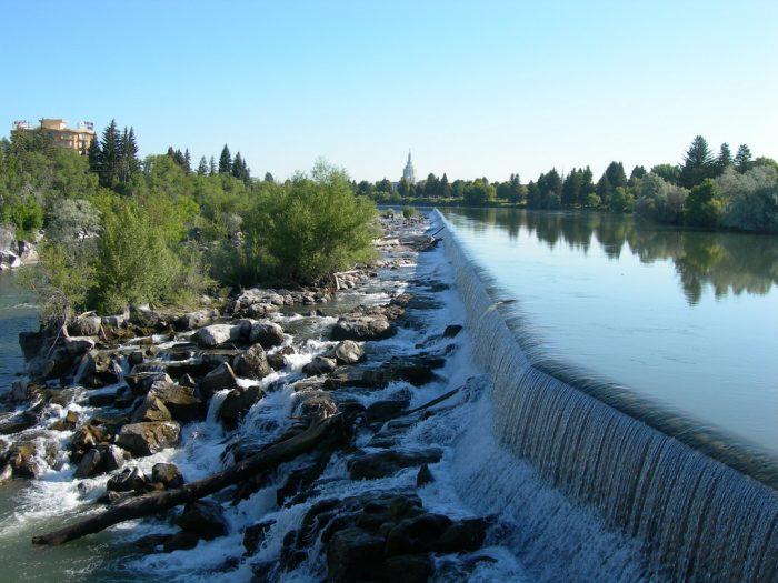 5. Snake River Falls, Idaho Falls