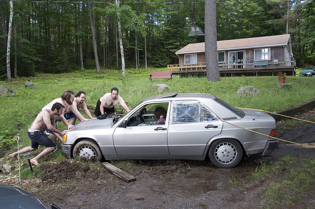 3. Rush to the aid of a neighbor in need. (And/or find your vehicle horribly stuck by sand, snow or mud).