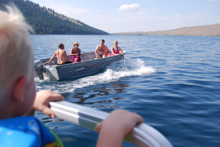 One of the best ways to experience Wallowa Lake is by taking a relaxing boat ride. You can rent all sorts of water crafts, or bring your own.