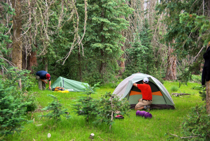 12. Camping in the summer is perfect! Unless your old camping gear isn't entirely waterproof.