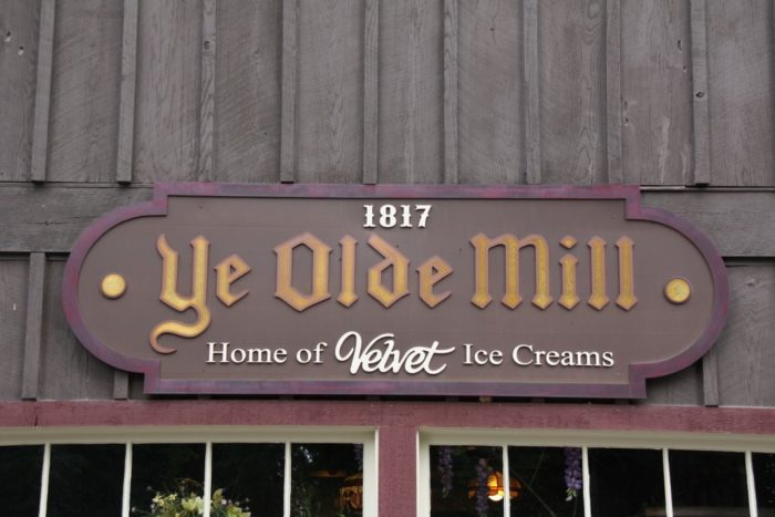 While the historic mill dates back to the early 1800s, the family-run ice cream factory started in 1910. The mill was fully restored in 1986 after a fire.