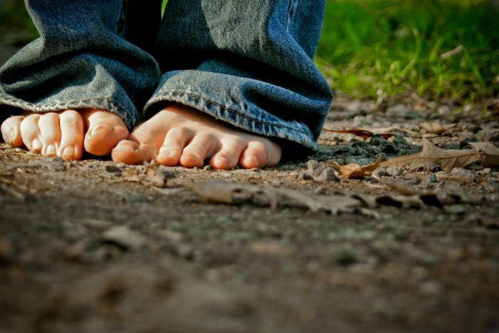 8. Go barefoot once in a while.