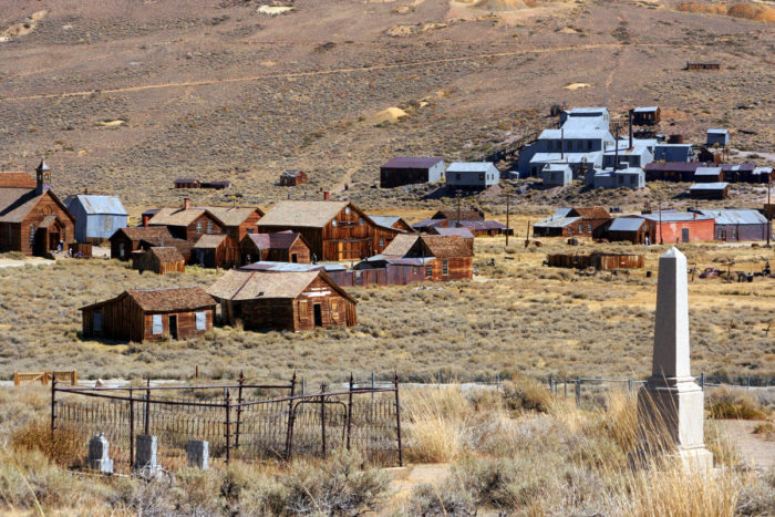 During its gold rush heydey around 1877, Bodie had as many as 10,000 residents.