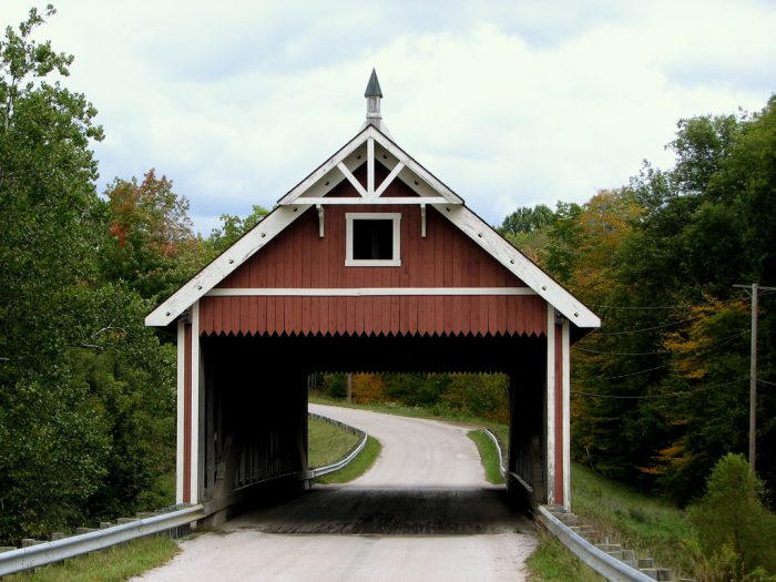 Netcher Road Bridge in Jerfferson Township was built in 1999 and features a unique Neo-Victorian design.