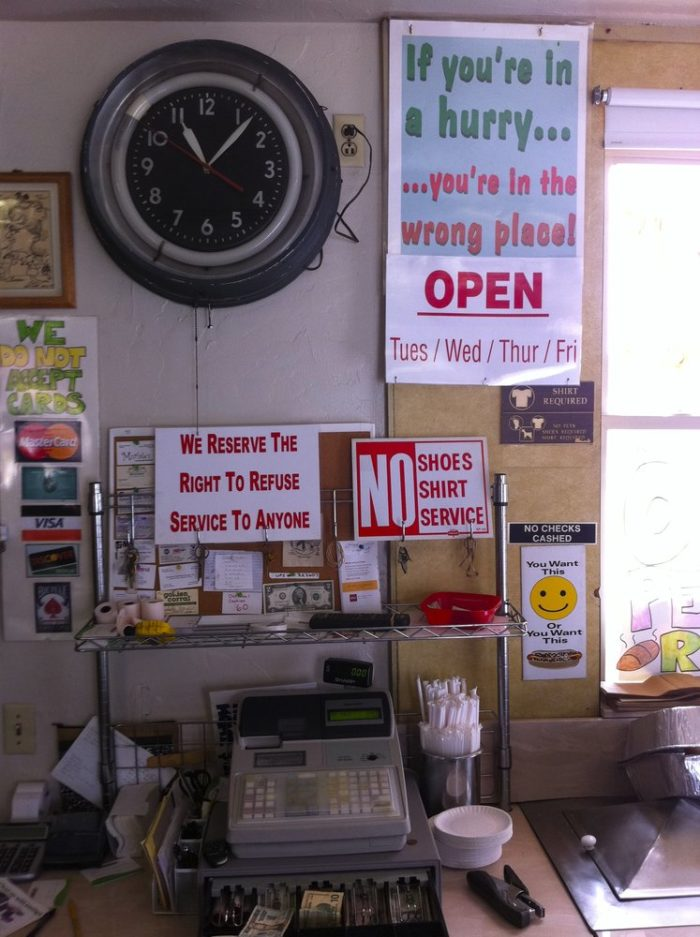 If you want to eat here, you need to follow the rules.