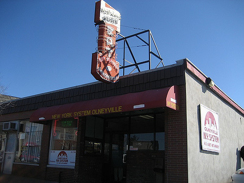 17. Order hot wieners all the way from Olneyville N.Y. System.