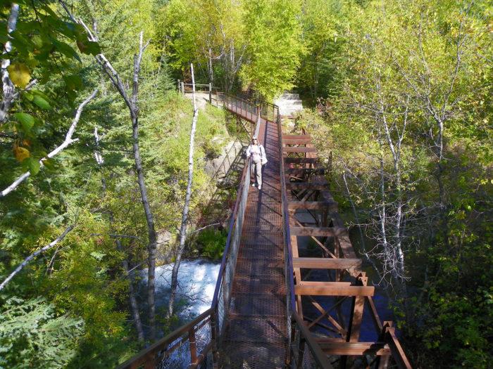 5. Old railroad bridge going through Spearfish Canyon